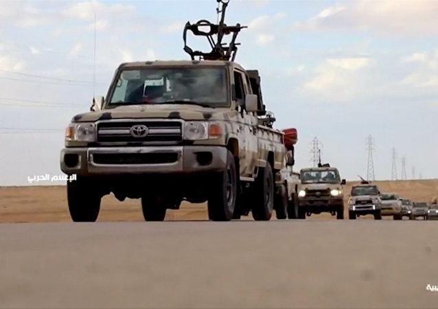Vehículos armados en Libia