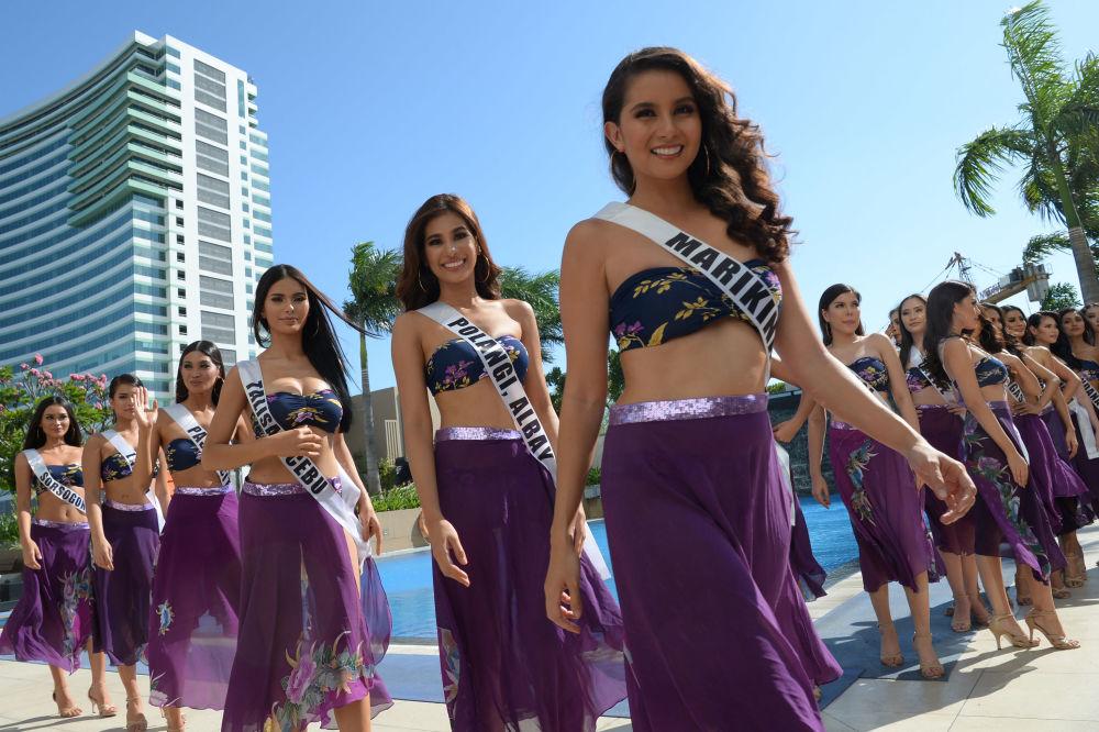 El secreto de la belleza aflora en la presentación de las candidatas a Miss Filipinas