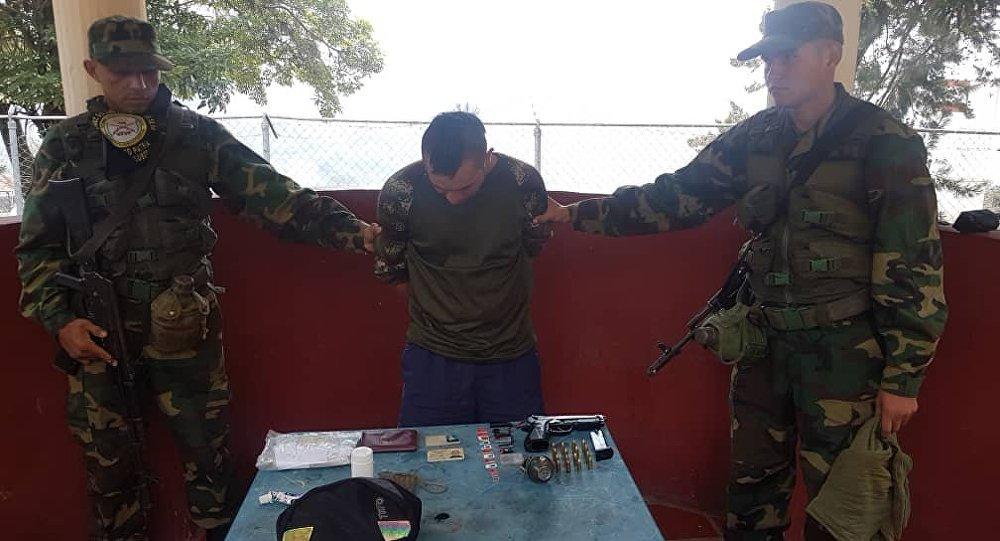Gerson Yacumal, ciudadano de nacionalidad colombiana aprehendido portando el uniforme de las FANB