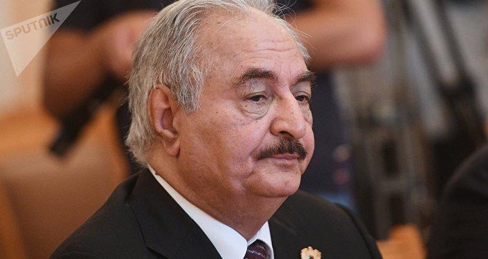 Jalifa Haftar, líder del Ejército Nacional Libio