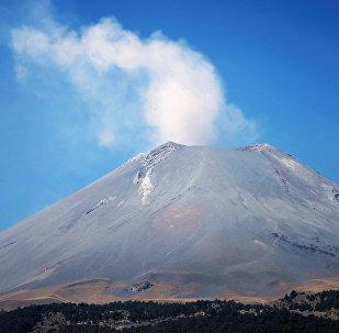 El volcán Popocatepetl, en México