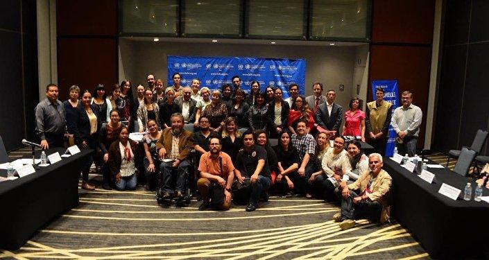Instituto Mexicano de Derechos Humanos y Demicracia, (IMDHYD), una de las 20 organizaciones que se reunió con la Alta Comsionada de DDHH de la ONU, Michelle Bachelet.
