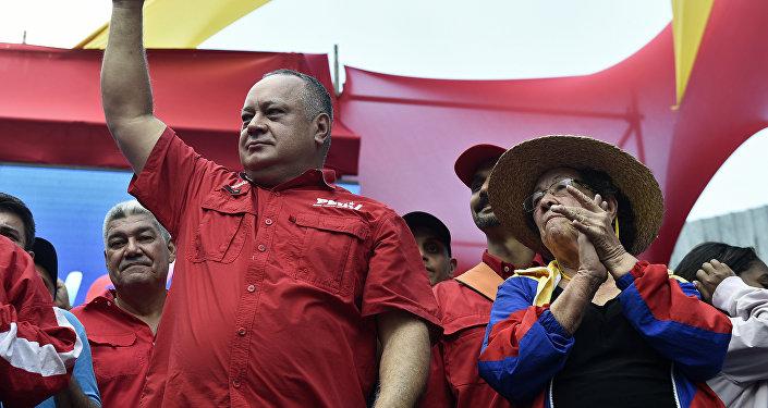 Diosdado Cabello, presidente de la Asamblea Nacional y primer vicepresidente del gobernante Partido Socialista Unido