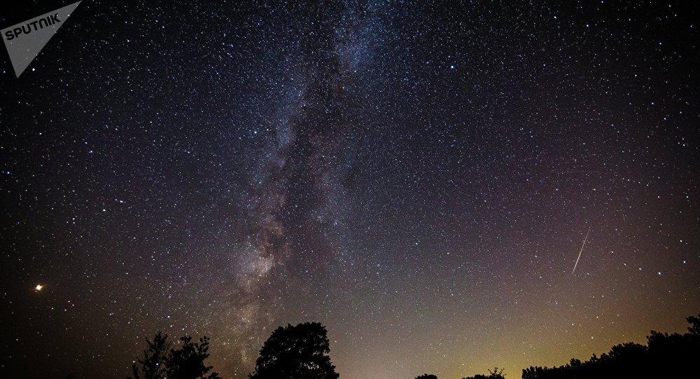 El cielo plagado de estrellas