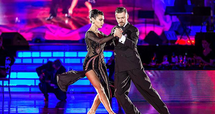 Dmitri Vasin y Sagdiana Hamzina, campeones mundiales de tango