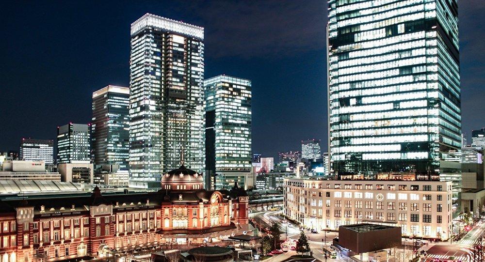 Luces de edificios en Tokio