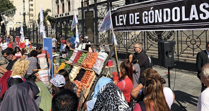 Protesta contra la inflación frente al Congreso de Argentina