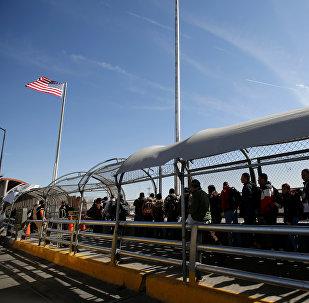 Migrantes en la frontera sur de EEUU (archivo)