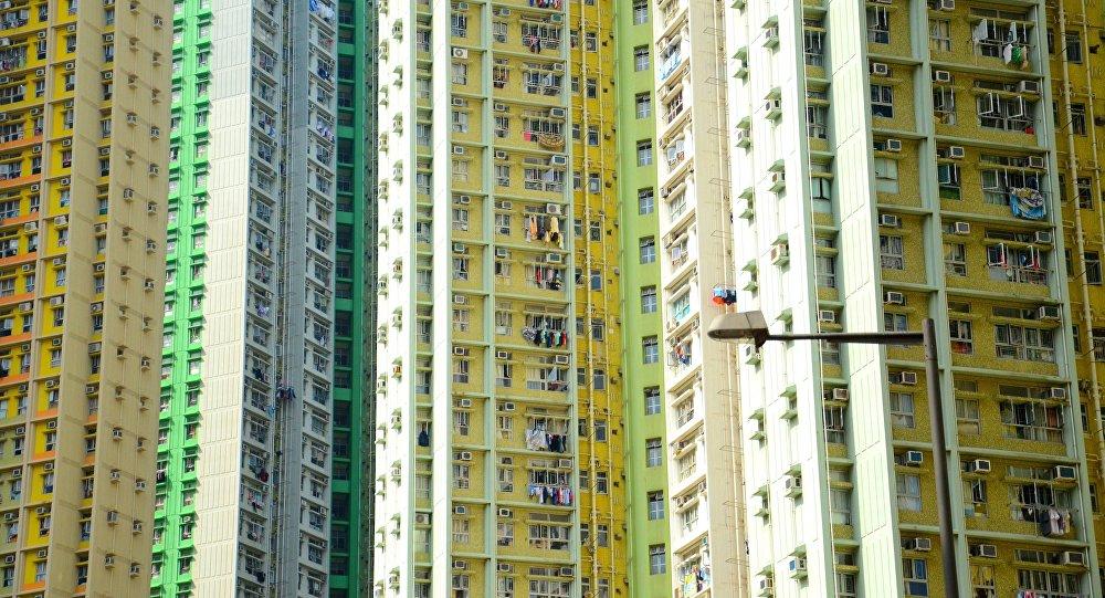 Edificios de viviendas en China, imagen referencial