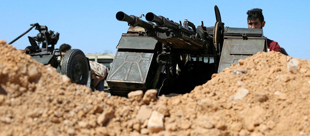 Los militares en Trípoli, Libia