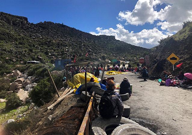 Protestas en Apurímac (Archivo)