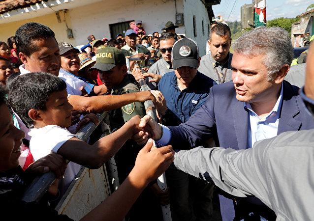Iván Duque, presidente de Colombia, en Caldono