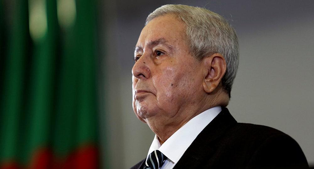 Abdelkader Bensalah, presidente interino de Argelia