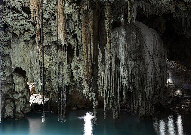 Un cenote de Yucatán (imagen referencial)
