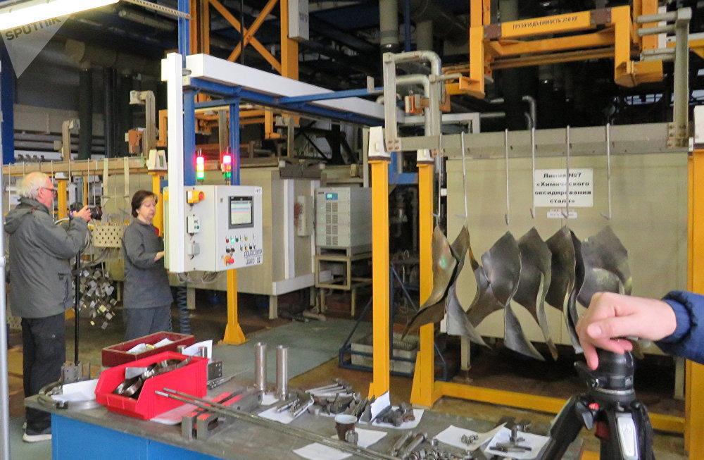 Taller de procesamiento electroquímico y pintura de las piezas de Rostvertol