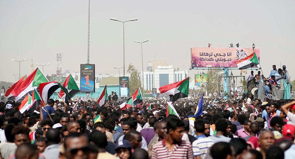 Las banderas de Sudán en las protestas