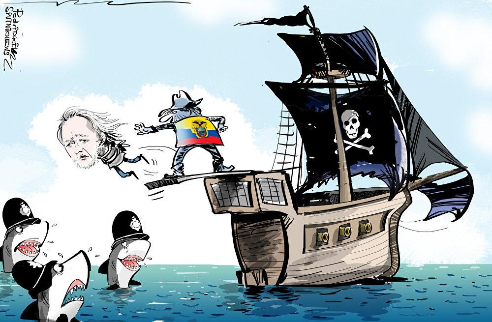 Ecuador echa a patadas a Assange