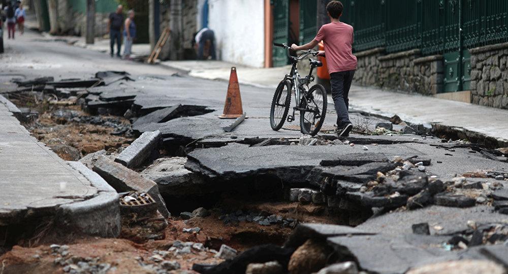 Consecuencias del temporal de lluvia en Río de Janeiro, Brasil