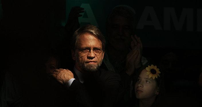 Antanas Mockus, líder de centro-izquierda colombiano
