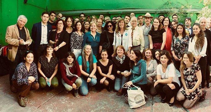 Representantes de la cumbre social paralela a la futura COP 25, 11 de abril de 2018, Chile