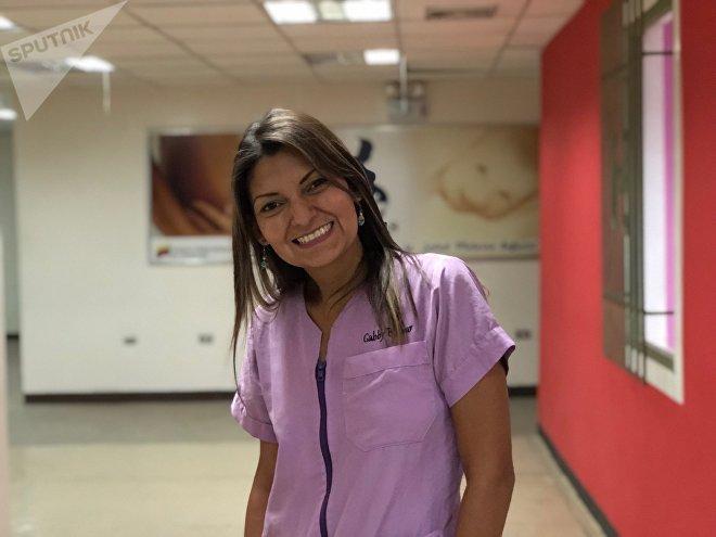 Gabby es doula y acompaña a las embarazadas en el proceso en el Hospital Hugo Chávez de Caracas
