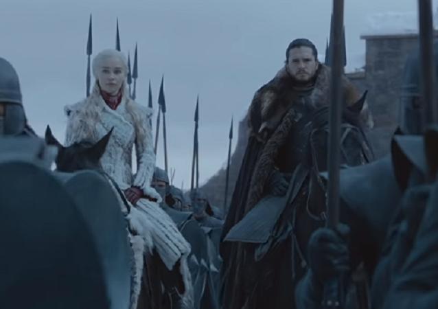 Una captura de pantalla del tráiler oficial de la nueva temporada de la serie Juego de tronos