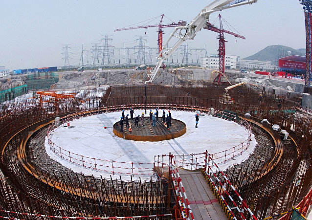 La construcción de una central nuclear en China