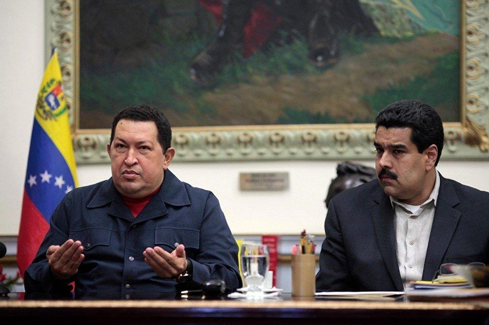 Presidente de Venezuela Hugo Chávez se dirige a los venezolanos en radio y televisión