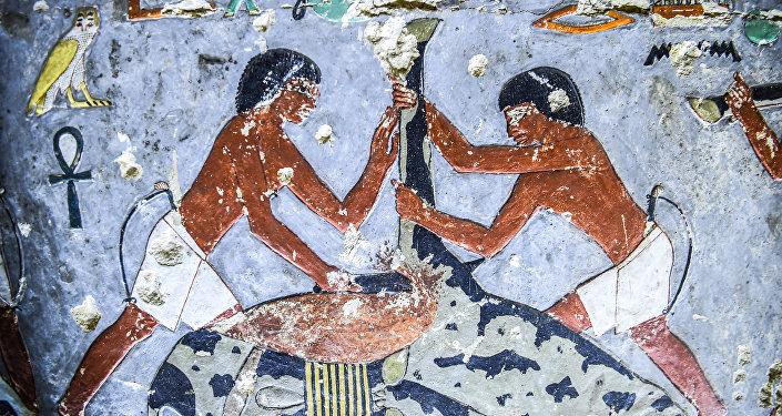 La tumba hallada en la necrópolis de Saqqara