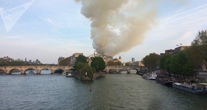 Incendio en la catedral parisina de Notre Dame