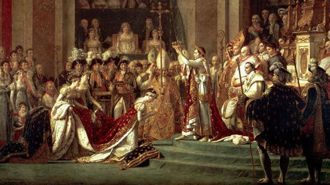 La consagración del emperador Napoleón y la coronación de la emperatriz Josefina tuvieron lugar en la catedral de Notre Dame de París el 2 de diciembre de 1804