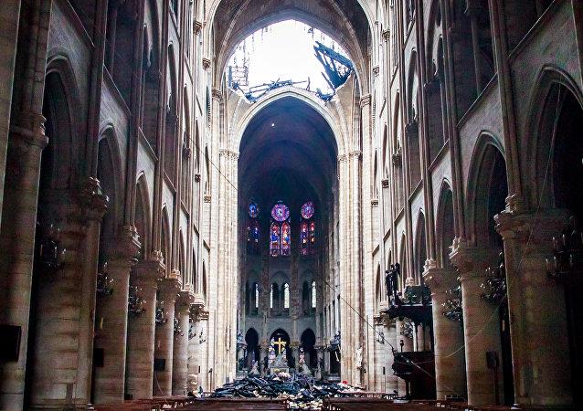 La catedral parisina de Notre Dame tras el incendio