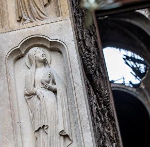 La catedral de Notre Dame de París tras el incendio