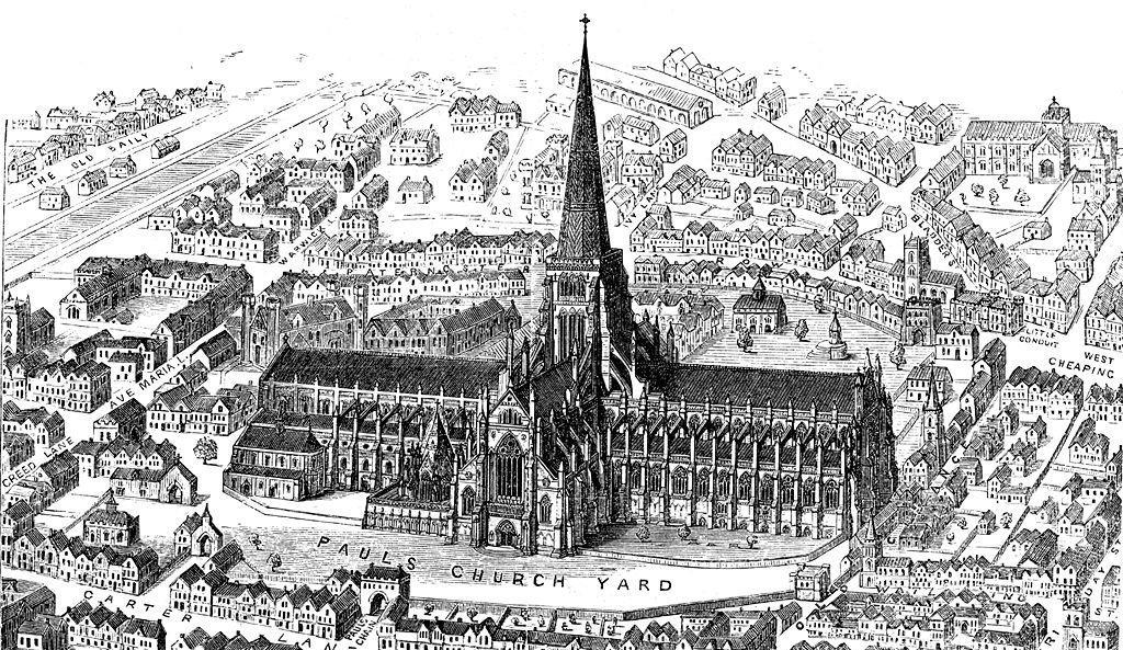 La antigua Catedral de San Pablo de Londres
