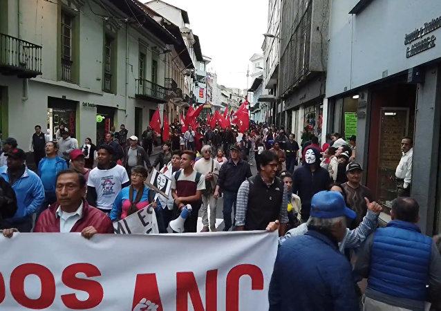 Disturbios y represión: el saldo de la protesta a favor de Julian Assange en Quito