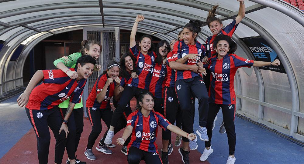 Jugadoras profesionales del Club San Lorenzo en Argentina
