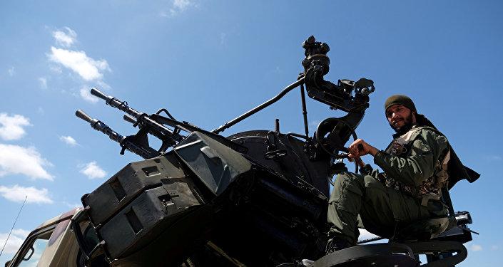 Soldado del Ejército de Jalifa Haftar (archivo)
