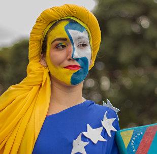 Una manifestación en apoyo a Nicolás Maduro en Caracas