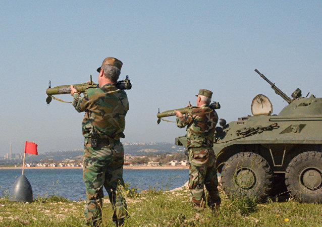 Las maniobras ruso-sirias en la base de Tartus (archivo)
