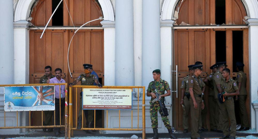 Lugar de la explosión en Sri Lanka