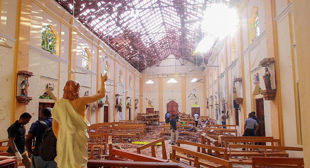 La iglesia en Negombo donde se produjo una explosión