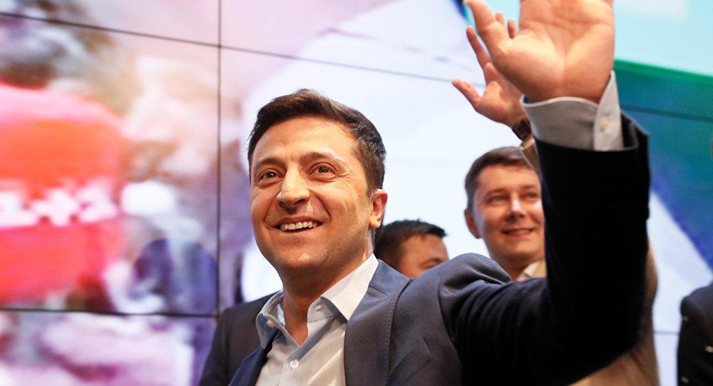 Volodímir Zelenski, presidente electo de Ucrania