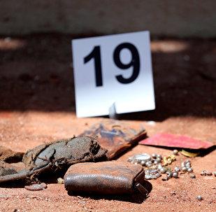 Lugar de una de las explosiones en Sri Lanka