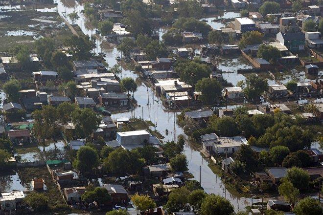 Inundaciones de 2013 en La Plata, Argentina (foto de archivo)