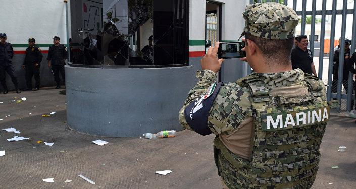 Un agente de la Marina mexicana