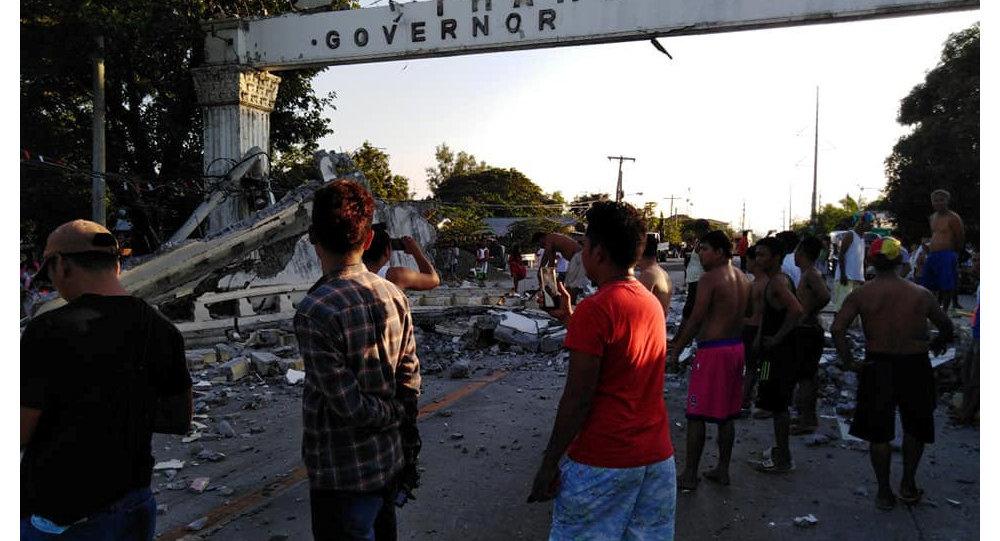 Las consecuencias del terremoto en la provincia Pampanga, Filipinas
