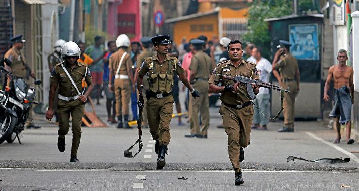 La Policía de Sri Lanka