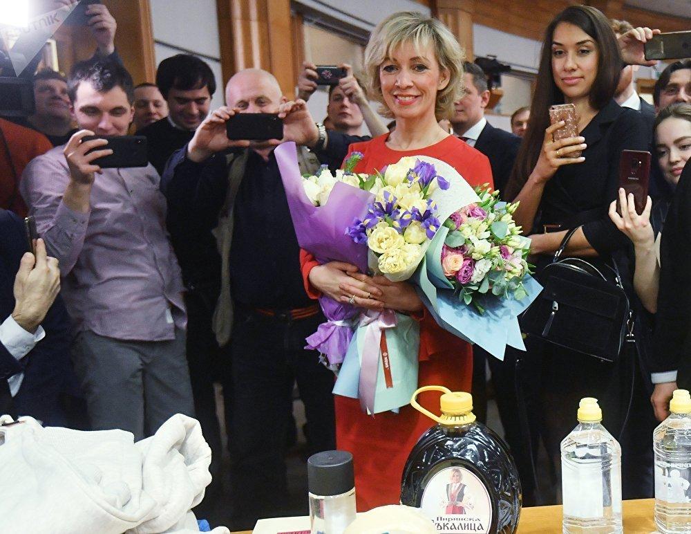 María Zajárova, portavoz del Ministerio de Exteriores de Rusia (43 años)