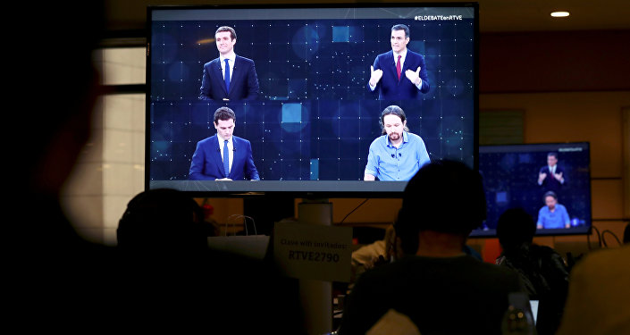 El debate entre los cuatro candidatos a la presidencia del Gobierno de España