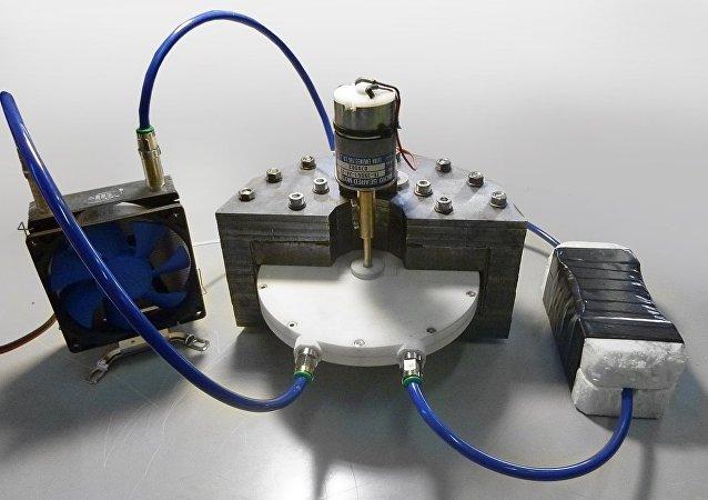 Un prototipo de laboratorio de refrigerador magnético